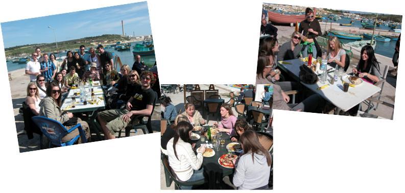 Marsaxlokk lunch people 2
