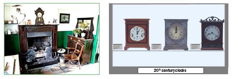 Museum display - clocks