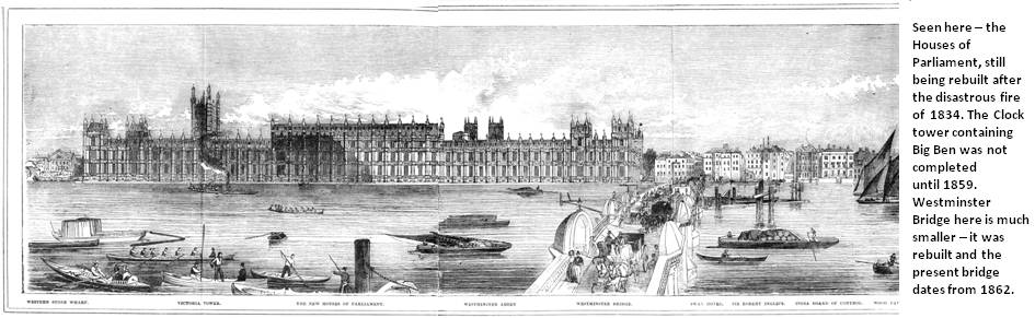 Panorama - Westminster Bridge and Parliament 1844