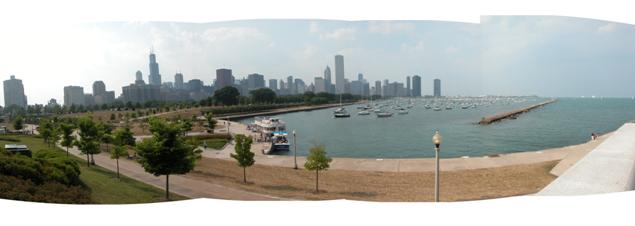 Chicago Lakeside panorama