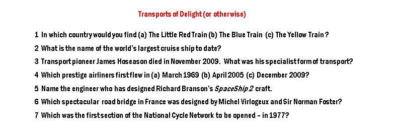 Quiz - transport