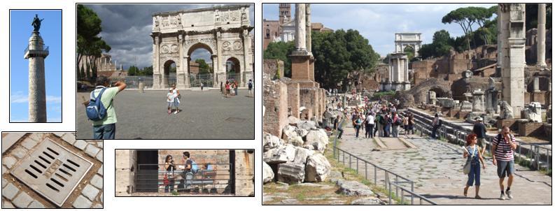 The Roman Forum, Trajan's Column etc