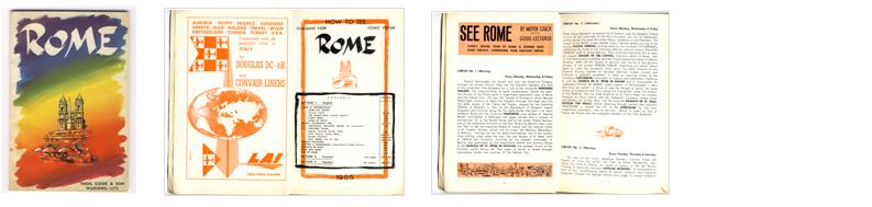 Thomas Cook brochure on Rome - 1955