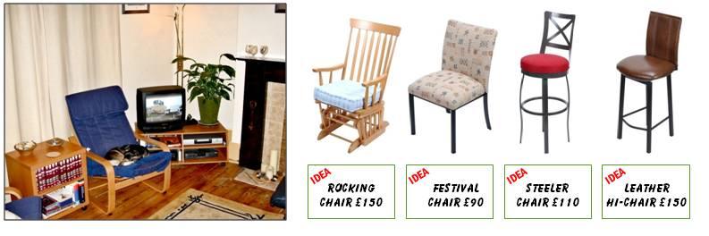 Shop display - chairs