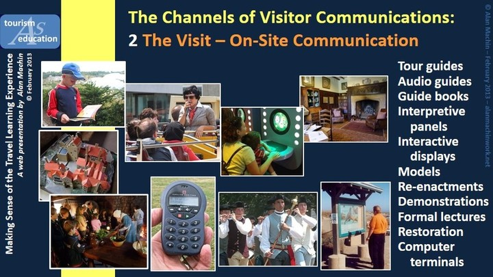 Channels of visitor communication - media