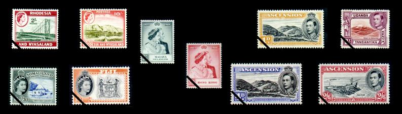 Commonwealth stamps composite