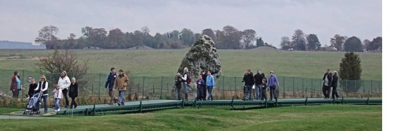 Stonehenge visitors