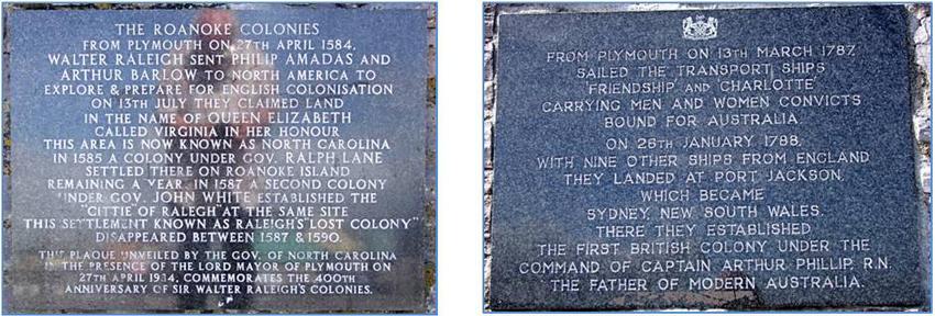 Sutton Harbour plaques