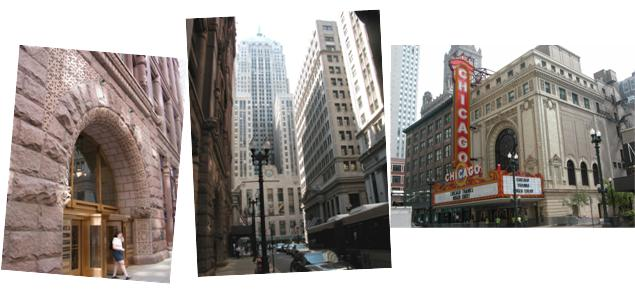 Untouchables locations plus Chicago Theatre