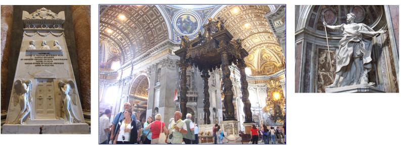 Inside St Peter's, Rome