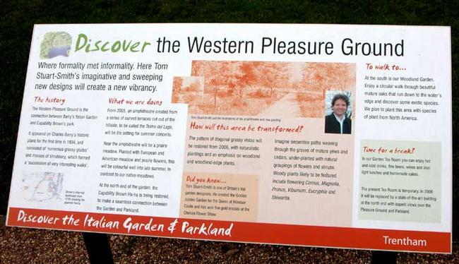 Trentham Gardens interpretation panel