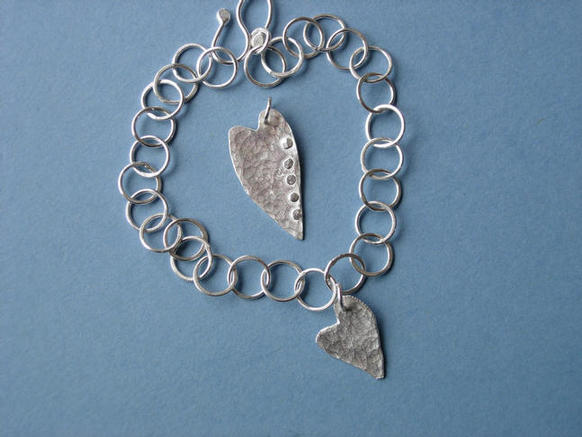 Heart bracelet and pendant