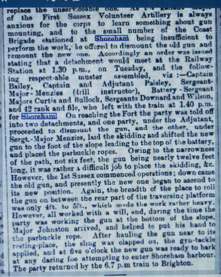 1864 Brighton Gazette news clip part 2