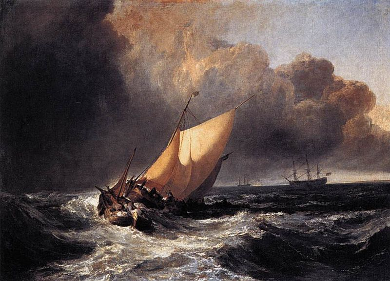 J M W Turners, 'Dutch Boat in a Gale'