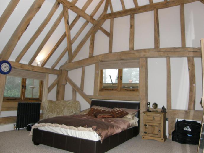 Ryan's Barn end bedroom, looking west.