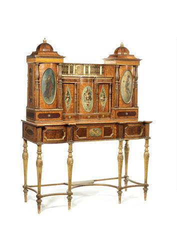 Secretaire Cabinet that Bob Partridge exhibited  once at the Franco British Exhibition in London in 1908, and secondly in a selling exhibition held in the Plaza Hotel in New York in 1910