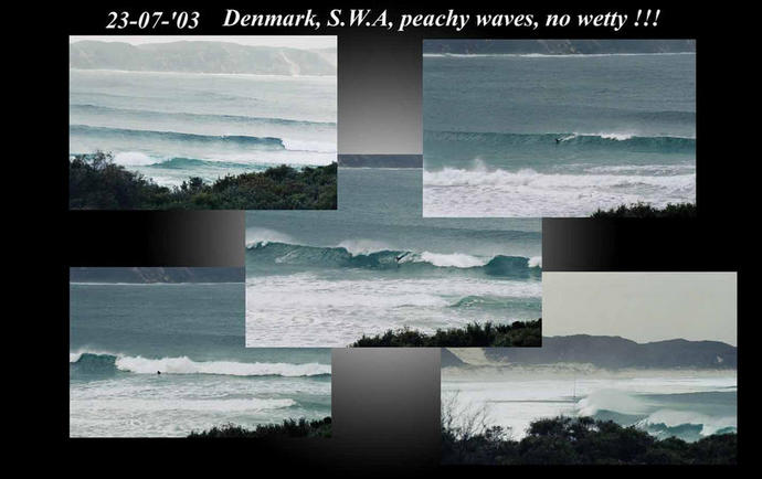 Denmark, South West Australia, nice waves but no wet suit!!