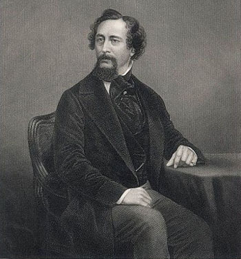 Charles Dickens, from a photo taken by John J.E.Mayall, engraved by D.J.Pound