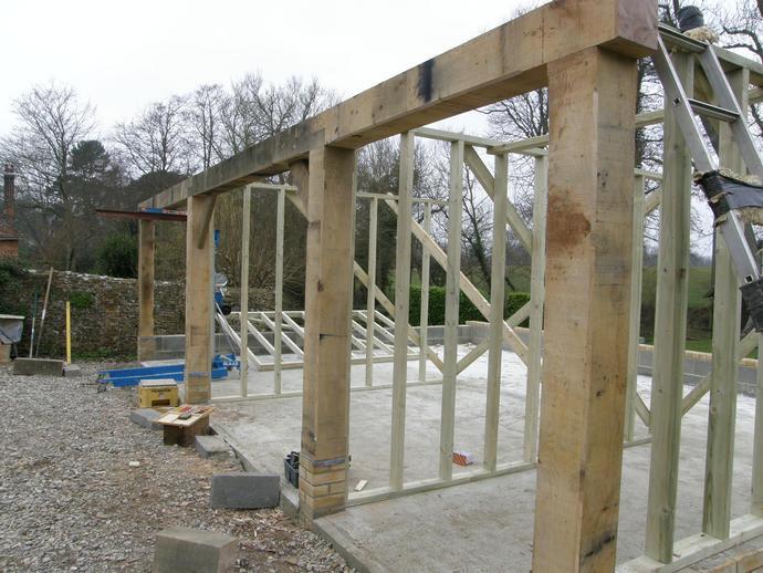Oak framing complete