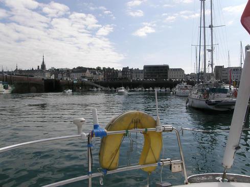 Fecamp harbour at low tide