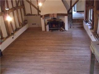 The 'burnt oak' Barn lounge floor. Bigger pics to follow!