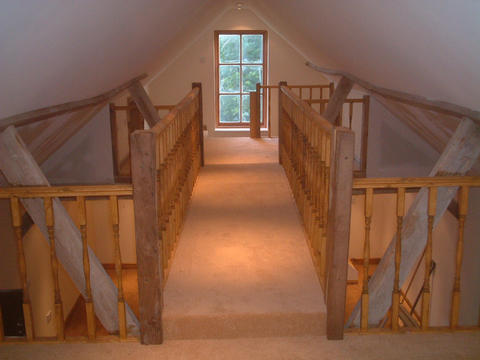 Balustrading completed, and carpet fitted. Almost there!