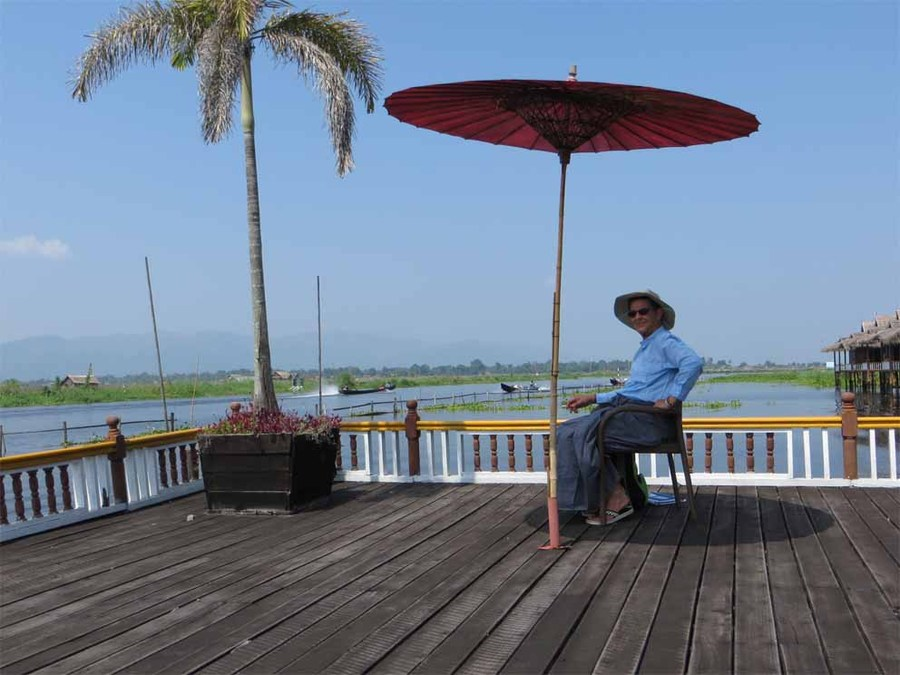 The verandah at Paramount bungalows, Inle Lake
