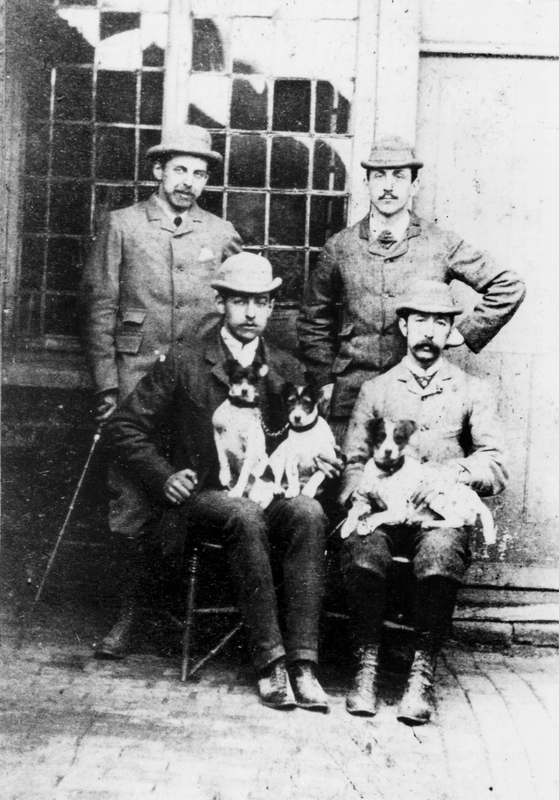 Ernest Edward, Louis martin, Percy Willatts, and Dudley Herbert Leggatt, four of the Leggatt Brothers at Little Park, Gentlemans Row, Enfield.