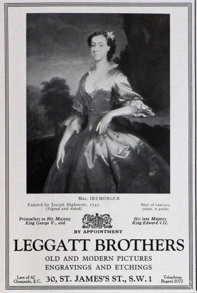 Leggatt Brothers advert