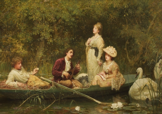 Sir Luke Fildes painting- 'Fair Sweet and Quiet Rest'