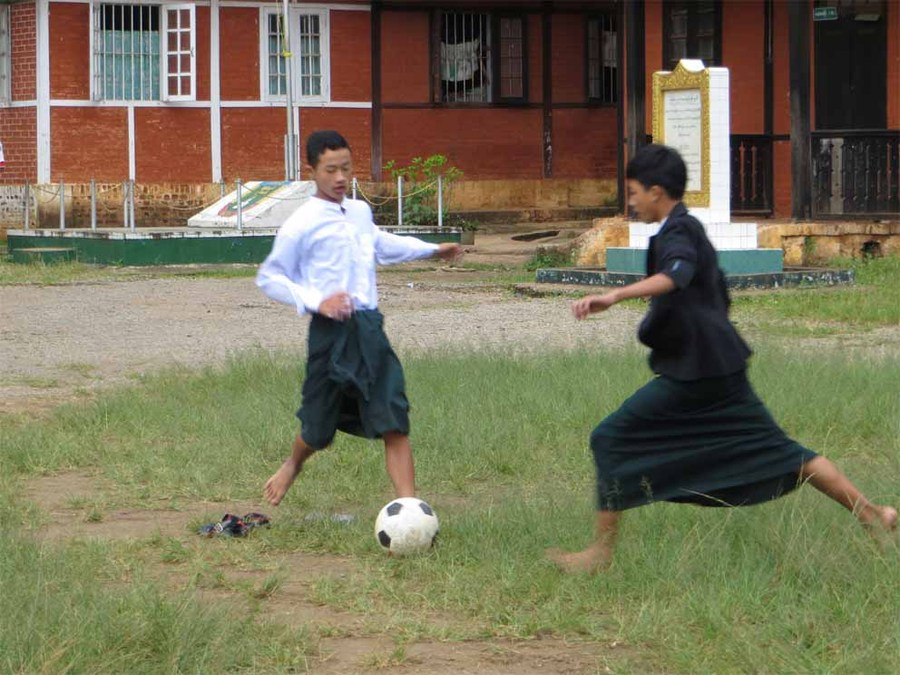 Schoolboy football at St Josephs, Pyni Oo Lwin, Myanmar