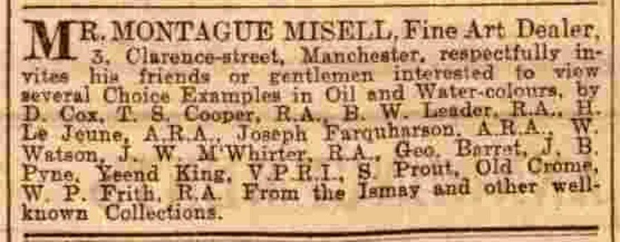Manchester Courier advert. Tues 19 May 1908