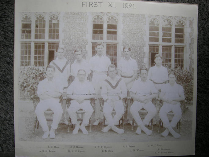 1921 1st Eleven. Neville Ramus absent!!