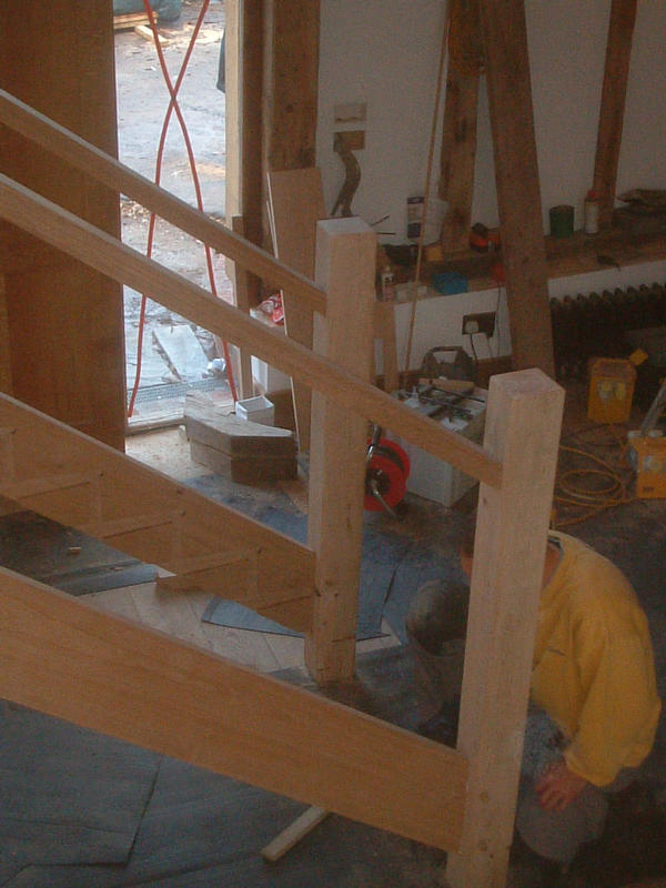 stair carcase in place