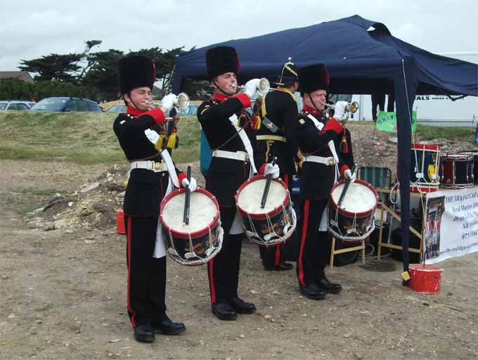 Buglers playing at the Old Fort