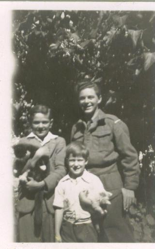 Squire, Uncle Mike, and Uncle Tim circa 1945