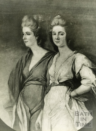 Ozias Humphrey, R.A, painting of the Waldegrave sisters, 1788. The disputed painting sold as a Romney to Henry Edwards Huntington for £20,000
