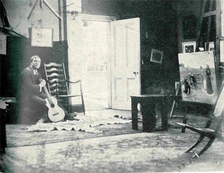 Harold Piffard at his Ealing studio. Circa 1900-05