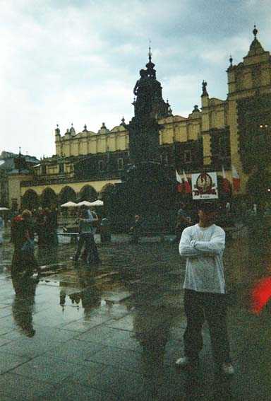 Krakow main town square, with 'Sukkenice', (cloth hall)behind