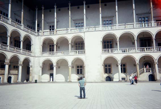 North in Wawel castle courtyard
