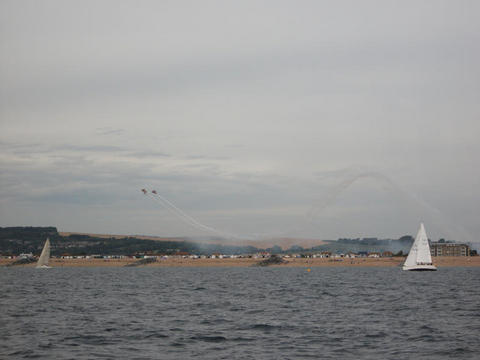 Aerial displays and grotty yachties racing