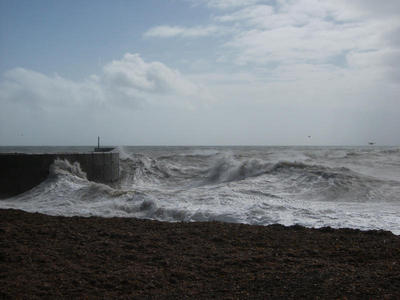 A rough day outside Shoreham harbour, Sept 12th 2011