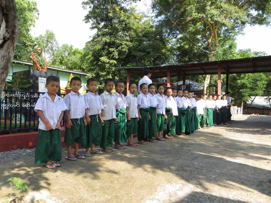 Pupils at the Shwebo school for orphans