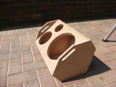 Prototype speaker wedge, done in the sun