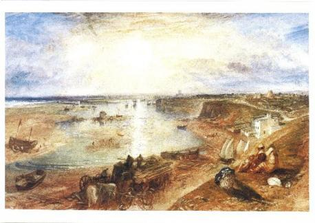 Painting of Shoreham Harbour, circa 1830, by JMW Turner