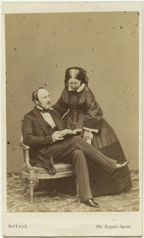 Carte de Visit of Victoria and Albert, taken by J.J.E. Mayall
