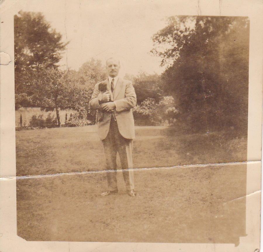 William Walker Sampson in the grounds of his Putney Hill residence