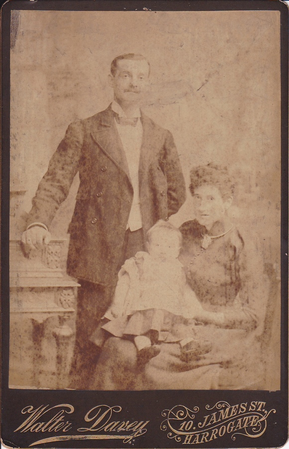 This photo of William Walker Sampson with his wife, Elizabeth, and son, John(Jack), was sent to me by his Great Grand Daughter, Gillian Harrison.