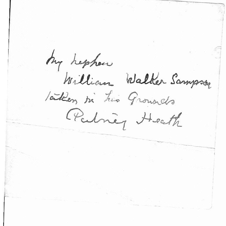 This is the back of the photograph of William Walker Sampson