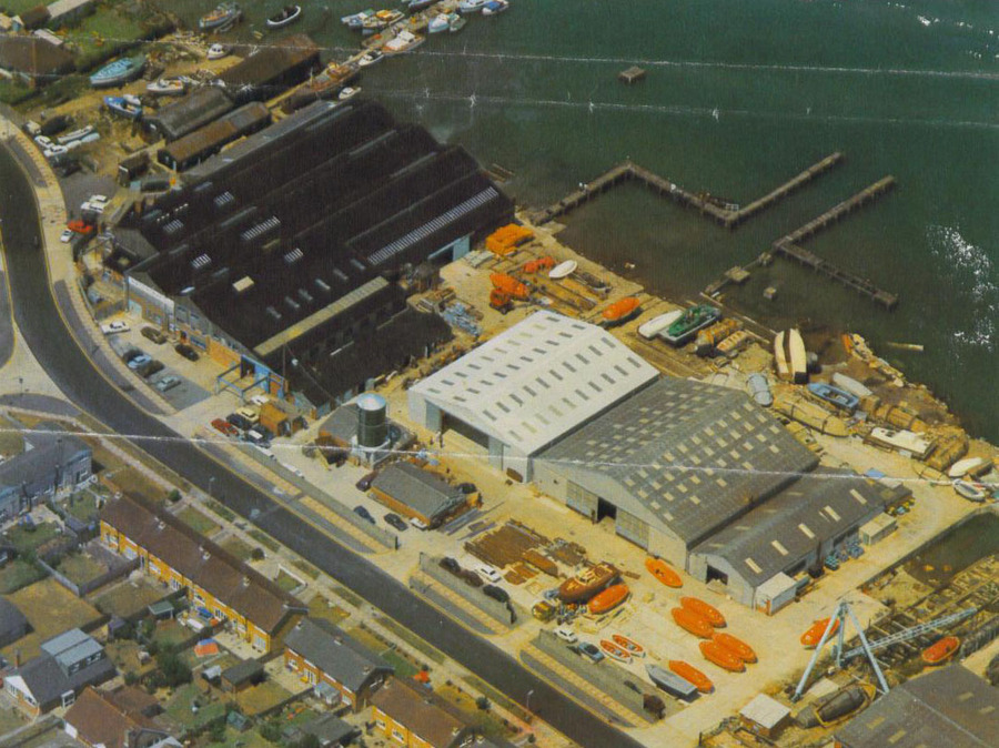 Aerial view of Watercraft circa 1970's